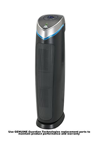Germguardian AC5250PT 3 In 1 Air Cleaning System With Pet Pure True HEPA Filter UV C Sanitizer Allergen And Odor Reduction 28 Inch Digital Air Purifier