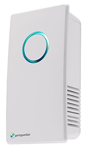 Germguardian GG1100W Elite Pluggable UV C Sanitizer And Deodorizer Kills Germs Freshens Air And Reduces Odors From Pets Smoke Mold Cooking And Laundry