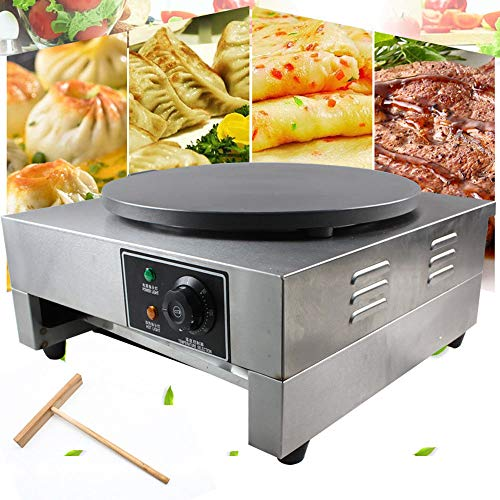 Electric Crepe Maker 3KW Electric Pancakes Maker Griddle 16 Electric Nonstick Crepe Pan With Batter Spreader Precise Temperature Control For Blintzes Eggs Pancakes And More